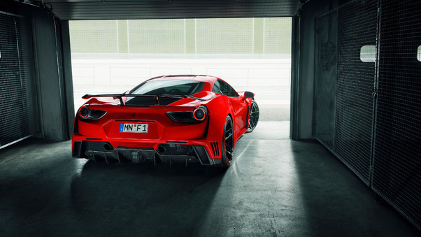 Full HD Ferrari 488 Gtb Rear View Wallpaper