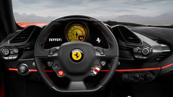 Full HD Ferrari 488 Pista Front Panel 2018 Wallpaper