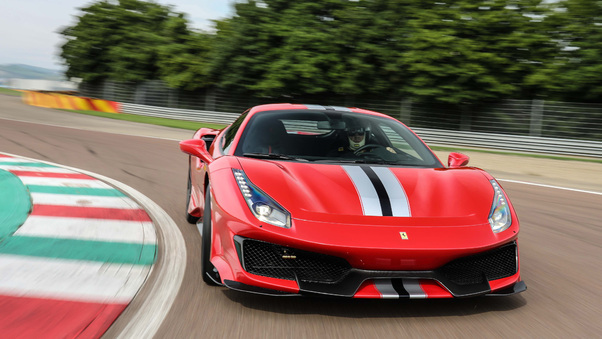 Full HD Ferrari 488 Pista On Track 4k Wallpaper