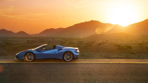 Full HD Ferrari 488 Spyder 2018 Side View Wallpaper