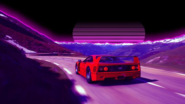 Full HD Ferrari F40 Retro Road 4k Wallpaper