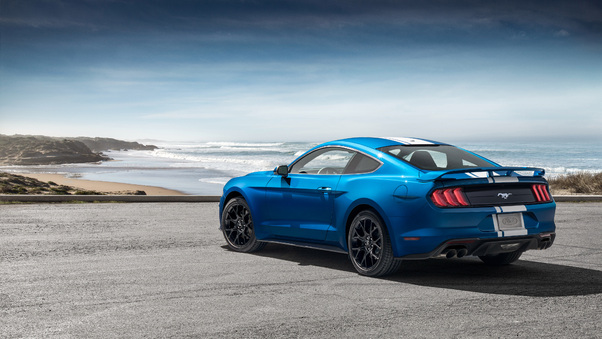 Full HD Ford Mustang Ecoboost Performance Pack 1 2018 Rear Wallpaper