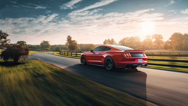 Full HD Ford Mustang Ecoboost Convertible 2018 4k Wallpaper