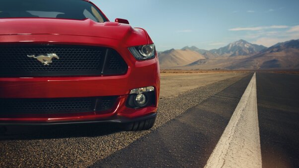 Ford Mustang GT Red Front Muscle Car