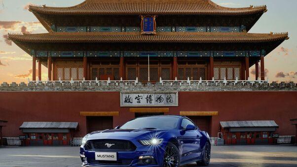 Full HD Ford Mustang Gt350 And Porsche Gt3 Wallpaper