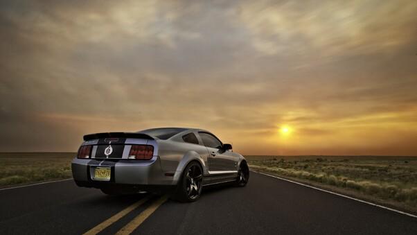 Full HD Ford Mustang Silver Wallpaper