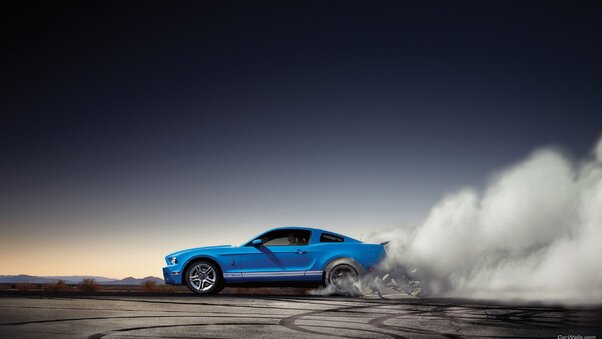 Full HD Ford Shelby Burnout Wallpaper