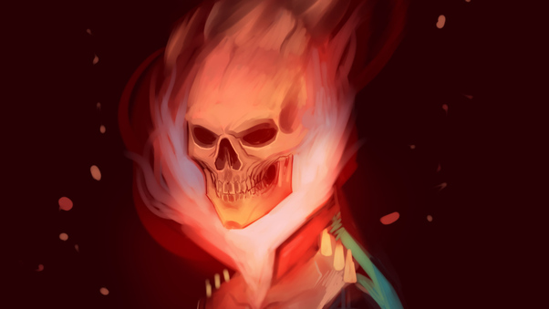 Ghost Rider by KMArts on DeviantArt  |Ghost Rider Digital Painting Photoshop