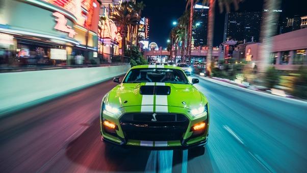 Full HD Green Ford Mustang Shelby Gt500 2020 Wallpaper