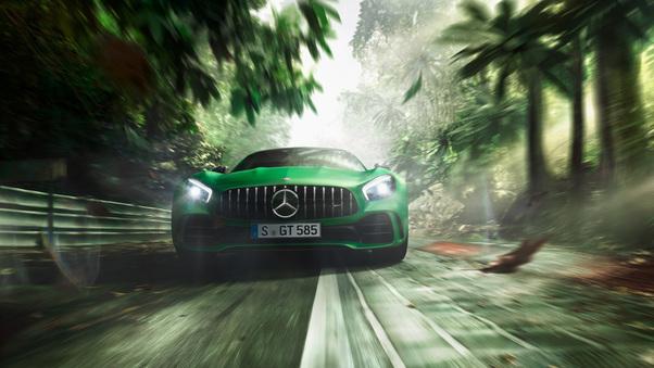 Full HD Green Mercedes Benz Amg Gt R 2018 Wallpaper