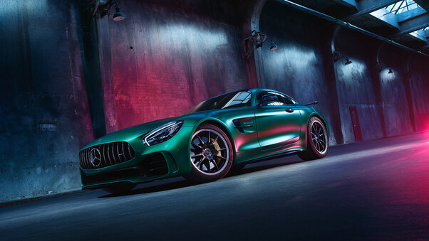 Full HD Renntech Mercedes Amg Gt R 2018 Rear Wallpaper