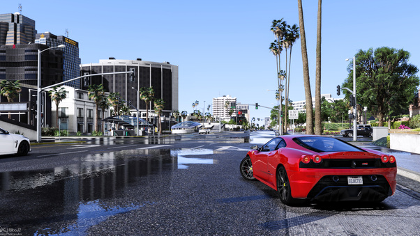 Full HD Gta V Ferrari 8k Wallpaper
