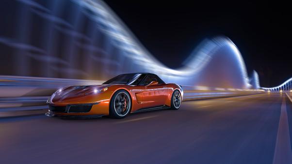 Full HD Hammerhead Chevrolet Corvette In Dubai Wallpaper