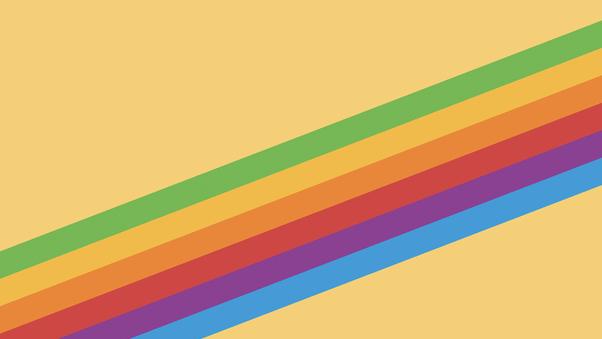 Heritage Rainbow Stripe Iphone X Iphone 8 Ios 11 Stock: Ios 11 Heritage Stripe Yellow, HD Abstract, 4k Wallpapers