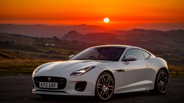 Full HD Jaguar F Type Front 2021 Wallpaper