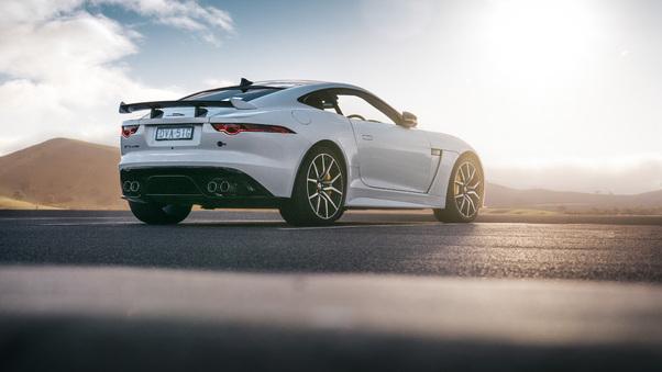 Full HD Jaguar F Type 2018 Rear Wallpaper