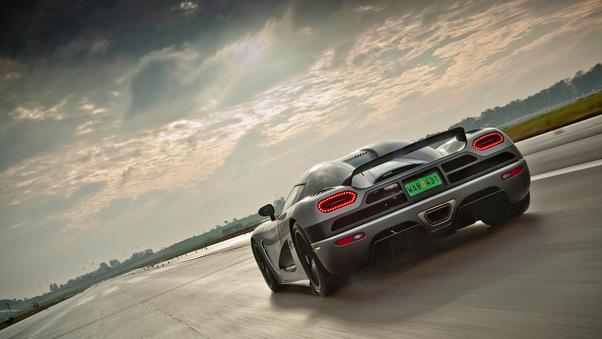 Full HD Koenigsegg Agera Prototype Rear Wallpaper
