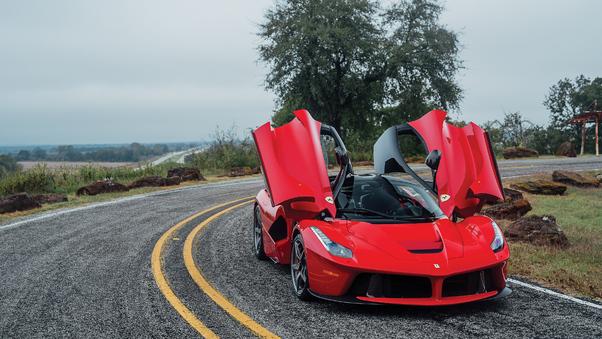 Full HD Ferrari Laferrari Fxx K Evo Side View Wallpaper