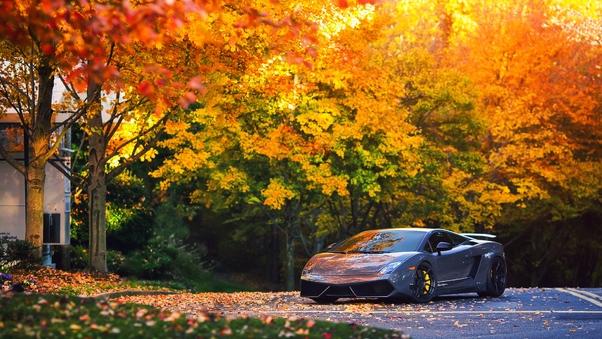 Full HD Red Lamborghini Gallardo Wallpaper