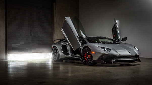 Full HD Lamborghini Aventador 4k Red Wallpaper