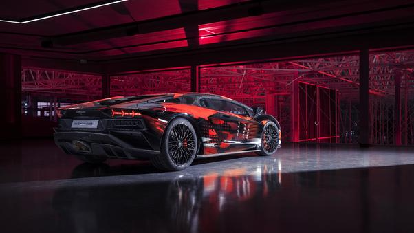 Full HD Red Lamborghiniaventador Wallpaper