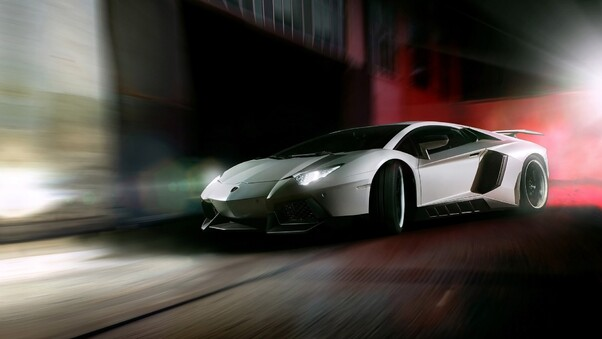 Full HD Lamborghini Aventador Lp 750 Sv Rear View Wallpaper