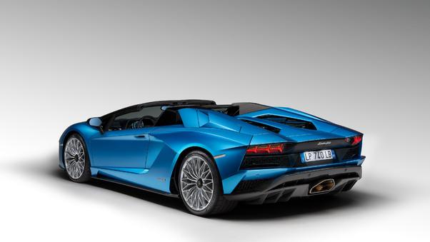 Full HD Lamborghini Aventador S 4k Rear Wallpaper