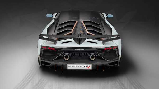 Full HD Lamborghini Aventador Svj 63 2018 Rear View Wallpaper