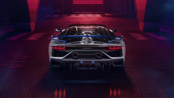 Full HD Lamborghini Aventador Svj Roadster Xago Edition Rear Wallpaper