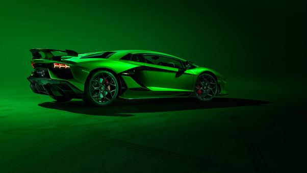 Full HD 2019 Lamborghini Aventador Svj Front Wallpaper
