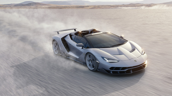 Full HD Lamborghini Centenario Rear Wallpaper