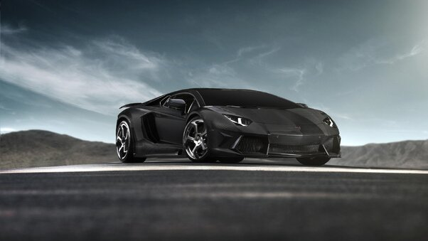 Full HD Lamborghinis With Jet Wallpaper