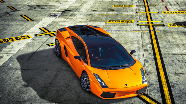 Full HD Orange Lamborghini Gallardo 4k Wallpaper