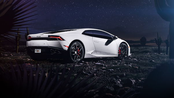 Full HD Lamborghini Huracan Cgi Rear Wallpaper