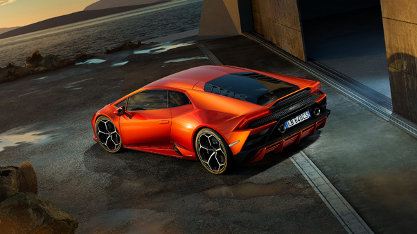 Full HD Lamborghini Huracan Evo 2019 Rear 4k Wallpaper