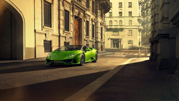 Full HD 2019 Lamborghini Huracan Evo Spyder 5k Wallpaper