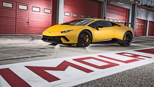 Full HD Lamborghini Huracan Performante 2019 Rear Wallpaper