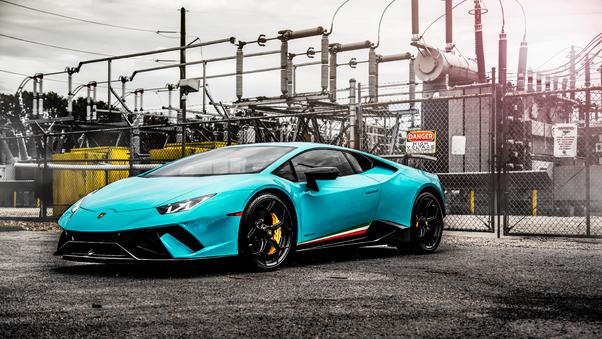 Full HD Lamborghini Huracan Perfomante Spyder Front 4k Wallpaper