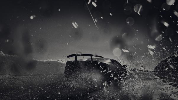 Full HD Black Lamborghini Huracan Photoshoot Wallpaper