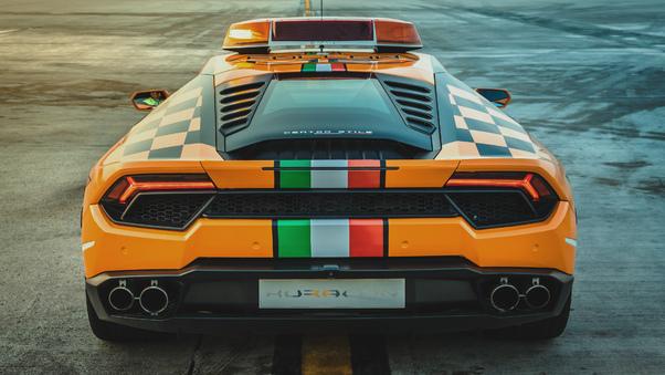 Full HD Lamborghini Huracan Lp 610 4 Spyder 2018 Rear View Wallpaper