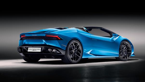 Full HD Lamborghini Huracan Spyder Convertible Rear Wallpaper