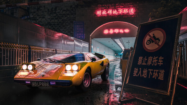 Full HD Lamborghini In Japan 4k Wallpaper