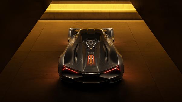 Full HD Lamborghini Terzo Millennio 2019 Rear View Wallpaper