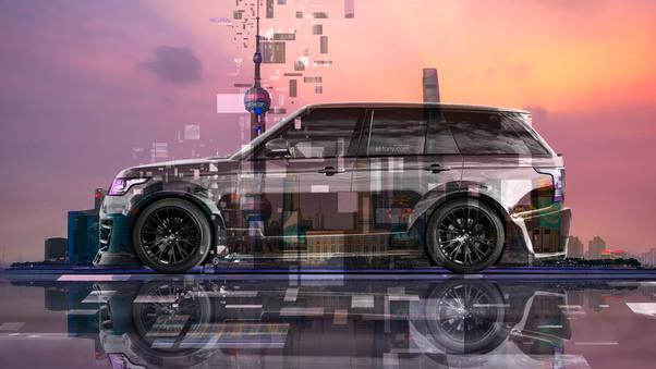 Full HD Land Rover Range Rover Tuning Lumma Side Super Crystal Shanghai China Wallpaper