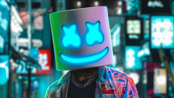 Marshmello Neon 4k, HD Music, 4k Wallpapers, Images ...