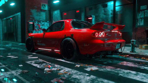 Full HD Mazda Rx7 Police Wallpaper