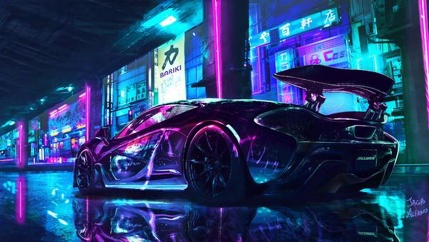 Full HD Mclaren Cyberpunk Chrome Color 4k Wallpaper