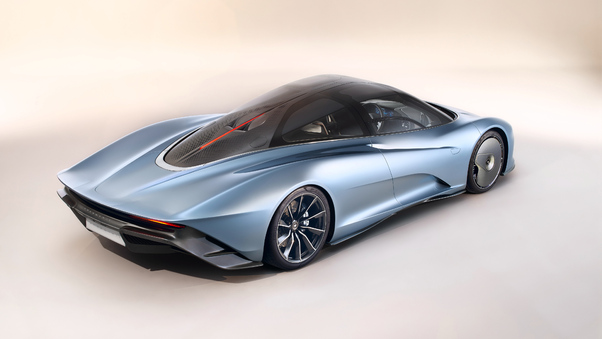 Full HD Mclaren Speedtail 2018 Rear View 4k Wallpaper