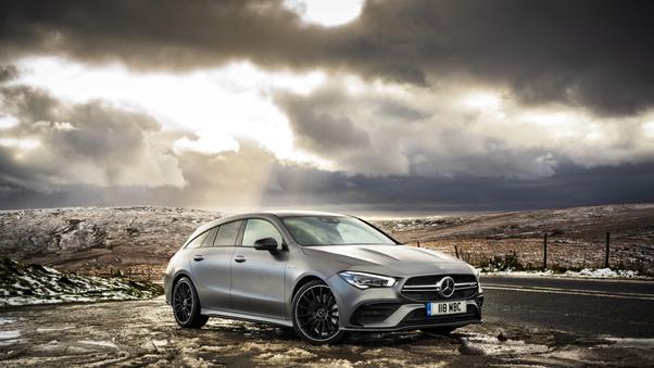 Full HD Mercedes Benz Cls 450 4matic Amg Line 2018 Front Wallpaper