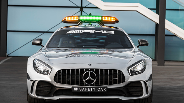 Full HD Mercedes Amg Gt R F1 Safety Car 2018 Front Wallpaper